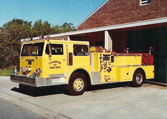 Evanston Fire Department 1974 How engine