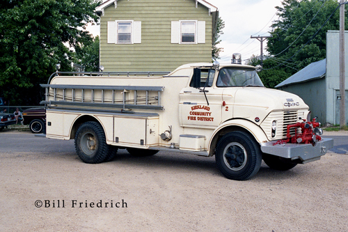 Kirkland FPD (IL) 1961 GMC-Hower fire engine