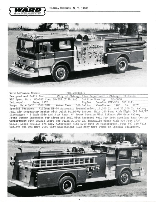 small resolution of ward lafrance 1970 brochure with chicago engines