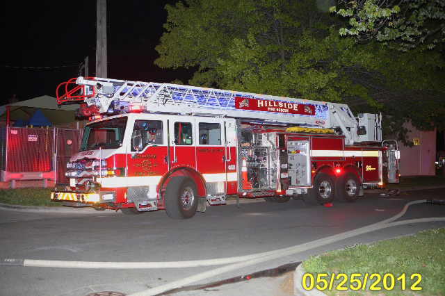 Maywood Fire Department apartment building fire 5-25-12