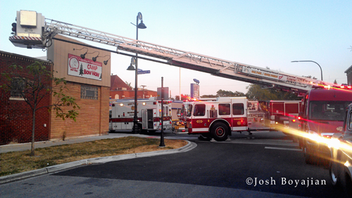 Small fire at Oak Park Building 6-27-12