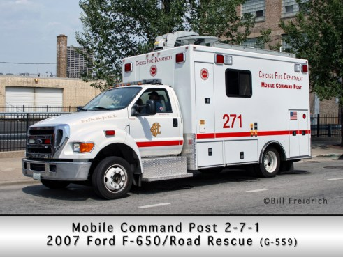 Chicago Fire Department Communication Van 2-7-1