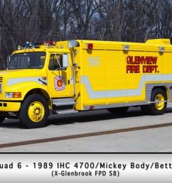 glenview fire department squad 6 [ 1024 x 768 Pixel ]