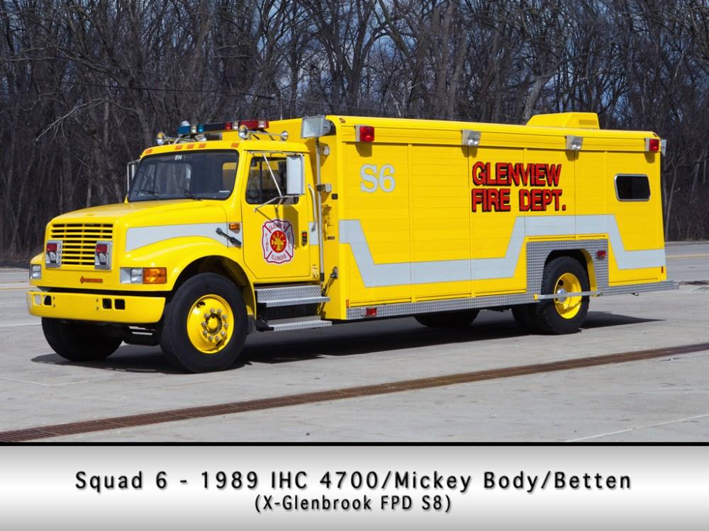medium resolution of glenview fire department squad 6