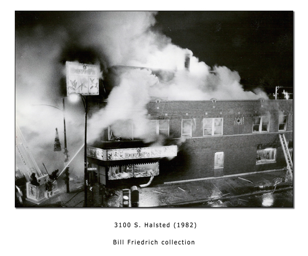 Historic Chicago fire photo from 1982