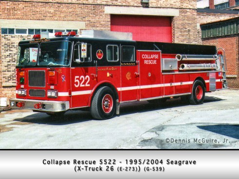 Chicago Fire Department lumber truck Collapse Rescue Unit