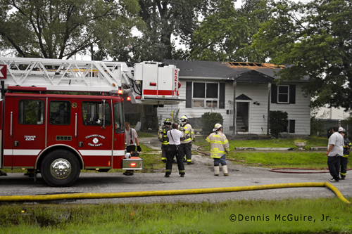 Dixmoor Fire Department house fire 8-27-12