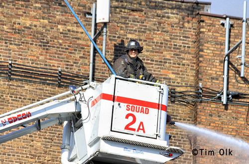 Chicago Fire Department 5-11 alarm fire 9-30-12 on Nelson Snorkel