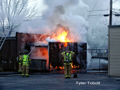 garage fire in Belvidere IL