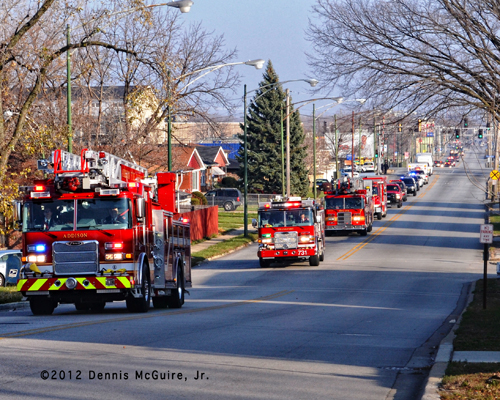 Funeral for Chicago Firefighter Walter Patmon Jr 11-21-12