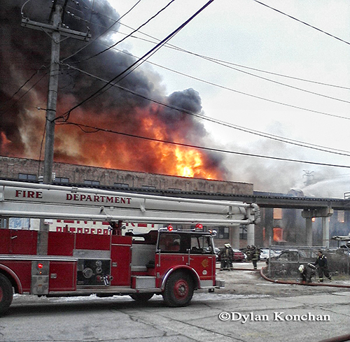 Seagrave Snorkel at Chicago 4-11 Alarm fire at 2444 W. 21st Street 12-29-12