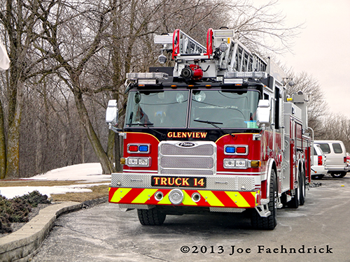 Glenview Fire Department new ladder truck