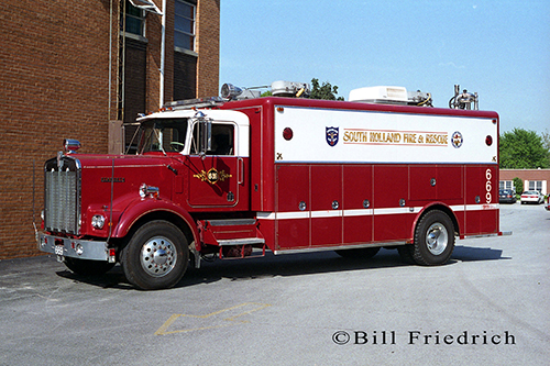 South Holland Fire Department squad