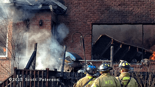house gutted by fire in Wadsworth IL