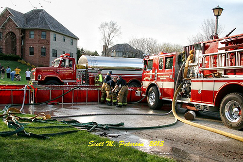 rural water supply at house fire