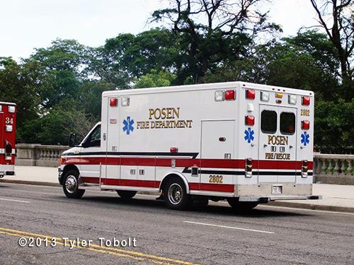 Posen Fire Department ambulance