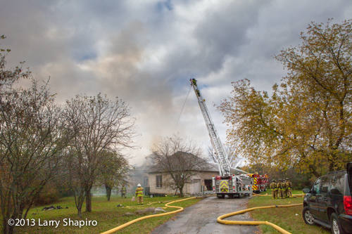 Newport Township FPD fights large house fire