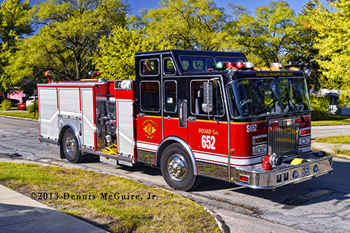 Chicago Heights FD fire engine