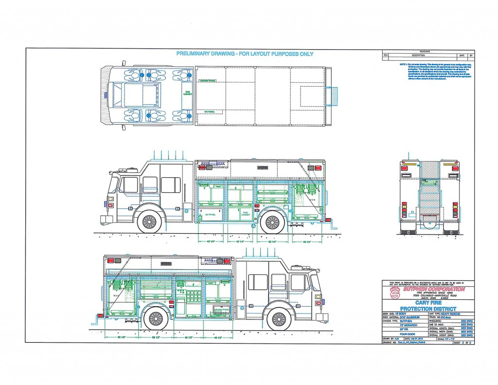 hight resolution of  new squad drawings for cary fire protection district