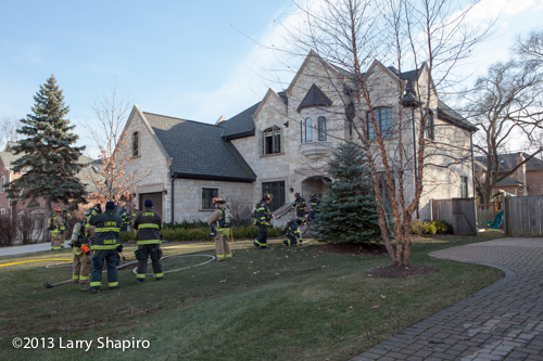 Northbrook Firemen at 2135 Brentwood Road for a house filled with smoke