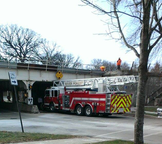River Forest Fire Department new aerial ladder truck