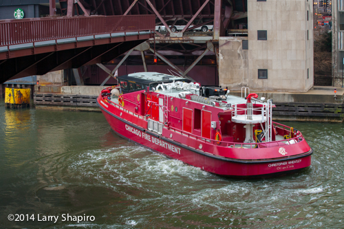 Chicago Fire Boat Engine 2 the Christopher Wheatley