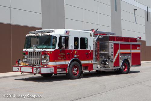 Berwyn fire engine