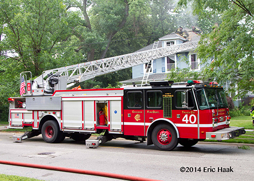 Chicago FD E-ONE aerial ladder