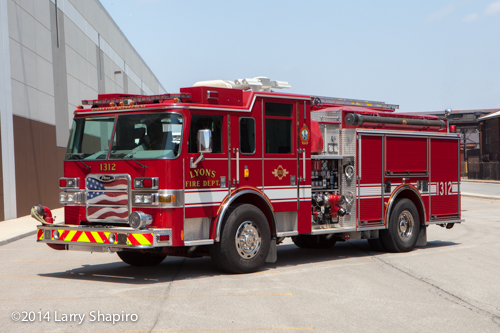 Lyons Fire Department engine