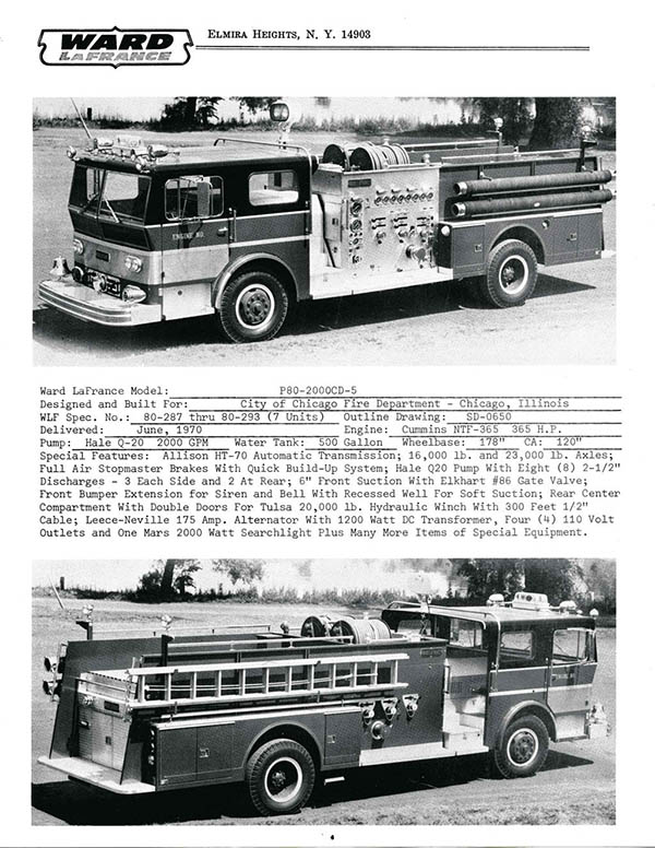 Ward LaFrance fire engine