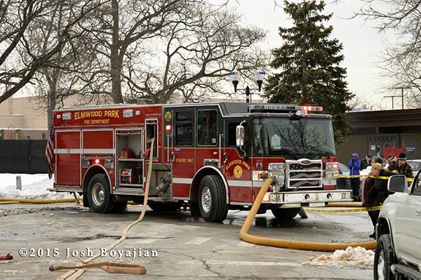 Pierce Dash CF PUC fire engine at a fire scene