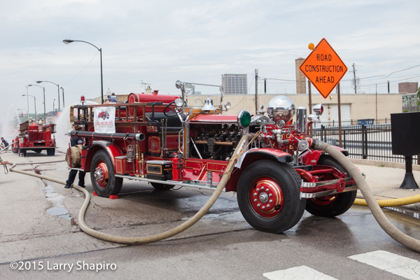 Former Chicago FD Ahrens Fox  fire engine