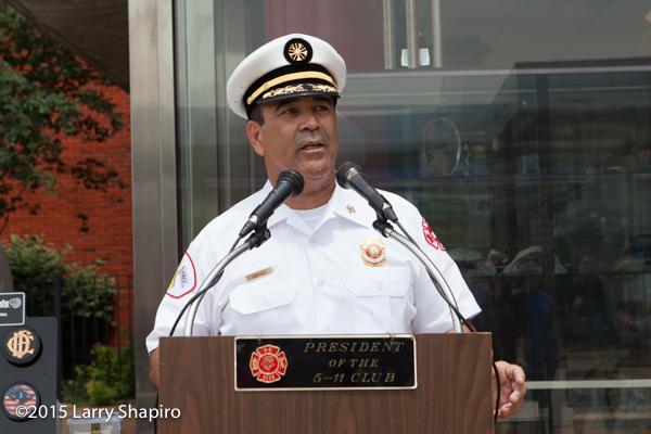 Chicago FD Commissioner Jose A. Santiago