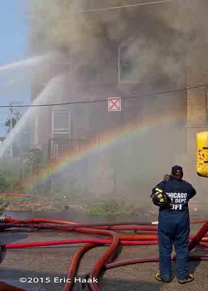 fire investigator at fire scene
