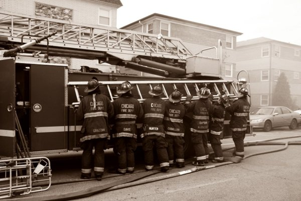 firemen working together