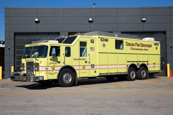 Chicago FD Squad 7 at O'Hare Airport
