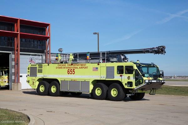 8x8 Oshkosh Striker at O'Hare Airport
