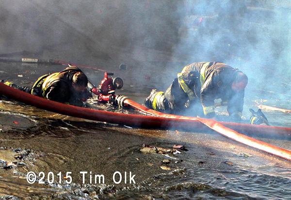 Chicago firemen injured at fire scene
