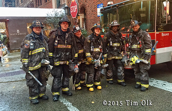 Chicago firefighters after a fire
