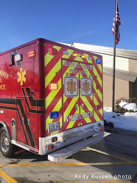 chevron striping on ambulance doors