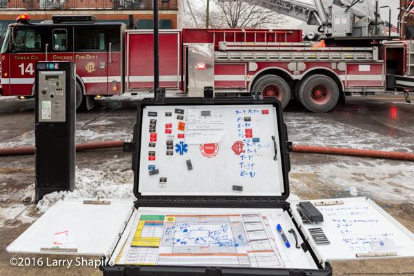 fire department portable command board