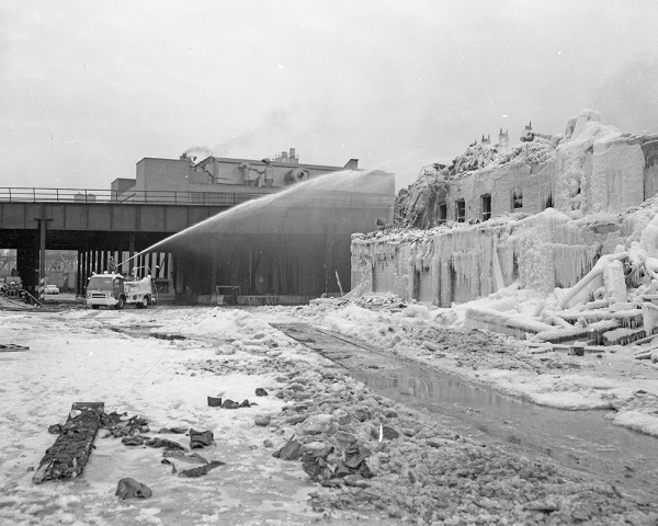 Ruins of the Hubbard Street fire