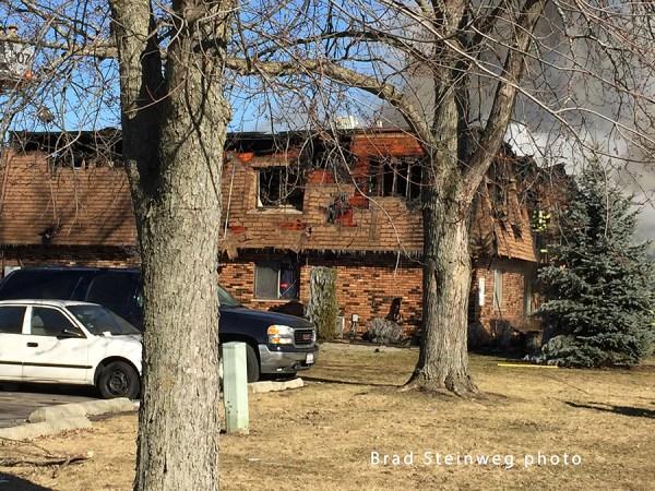 fire scene in Glenwood IL