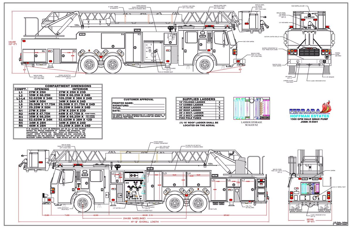 drawings of new fire truck « chicagoareafire.com