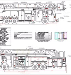 drawings of new fire truck chicagoareafire com rh chicagoareafire com fire truck turning radius fire truck seating diagram [ 1200 x 776 Pixel ]