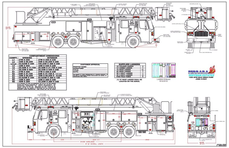 drawings of new fire truck  u00ab chicagoareafire com