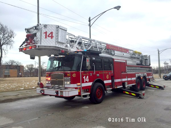 CFD Tower Ladder 14 - 2016 E-ONE Cyclone II 100'.