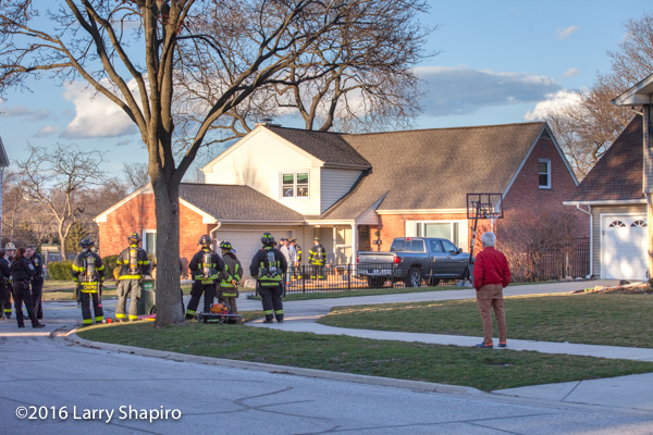house fire at 127 N Evanston in Arlington Heights