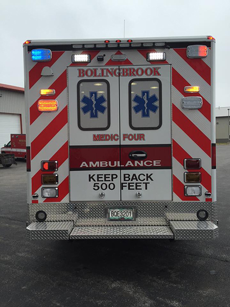 rear chevron striping on new ambulance