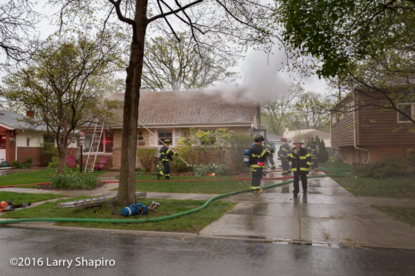 smoke from house fire